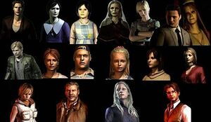 Characters of Silent Hill, Silent Hill 2, and Silent Hill 3