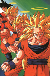 Three Super Saiyan Stages of Son Goku