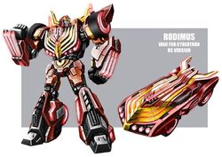 Rodimus WFC concept art by mmatere