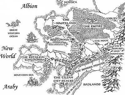 Image WarhammerOld World Mapjpg Neo Encyclopedia Wiki FANDOM - Old world map black and white