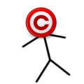 Copyright Icon-Headed Stickman