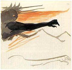 Sauron Tolkien illustration