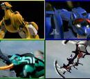 Zords in Power Rangers Jungle Fury