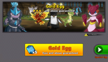 Purchase Gold Egg screen