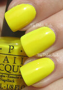OPI Ridiculously Yellow 1