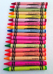 100 Crayola Crayons Pack Fluorescent Crayons