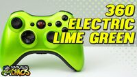 Xbox 360 Electric Lime Controller