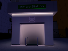Amery station front