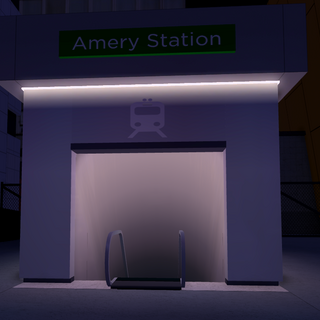 Entrance to Amery Station