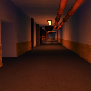 Maintenance hallway that leads to Underground Arms and the Slums