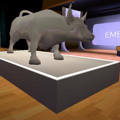 Silver Bull in the lobby