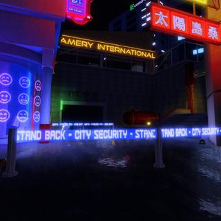 Crime scene from street