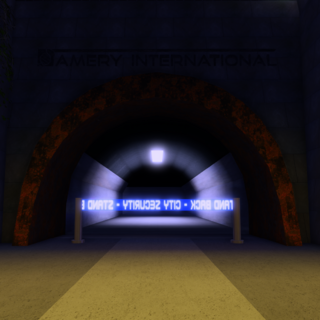 Cordoned-off tunnel
