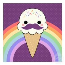 Icecreamcone with mustache
