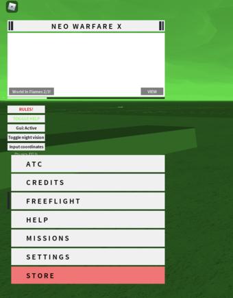 Roblox Game Menu Smaller How To Play Neo Warfare X Neo Warfare X Wiki Fandom