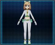 White Cat Suit (Light Green) Rom 4GO