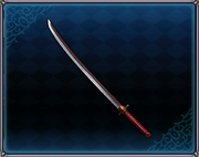 Nameless Red Pattern Katana 4GO