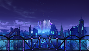 Ultra Dimension Planeptune - Base Big Tower - Night