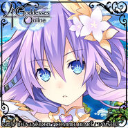 4 Goddesses Online Purple Heart Twitter Icon