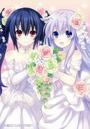 Noire and nepgear as flower girls