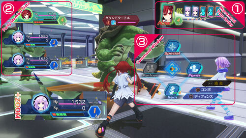 Megadimension VIIR Basic Battle Controls