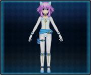 White Cat Suit (Light Blue) Neptune 4GO