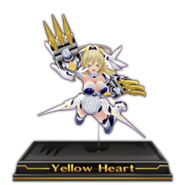 Yellow Heart Figure Icon V