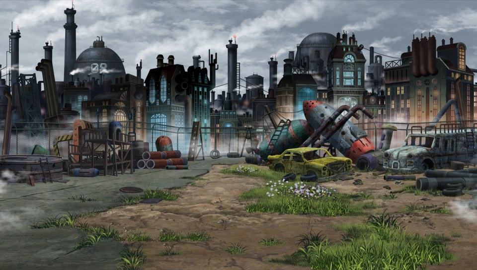 Image - Lastation junkyard.jpg | Hyperdimension Neptunia Wiki ...