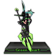 Green Heart Figure Icon V