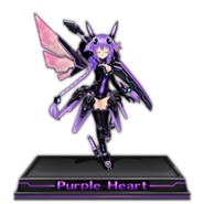 Purple Heart Figure Icon V