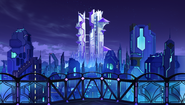 Ultra Dimension Planeptune - Big Tower Almost Finished - Night