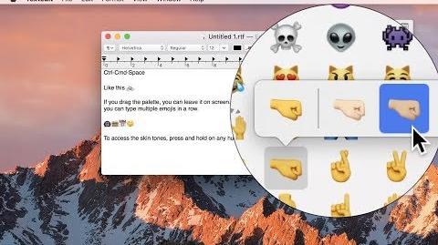 👏 How to Insert Emojis on macOS Sierra
