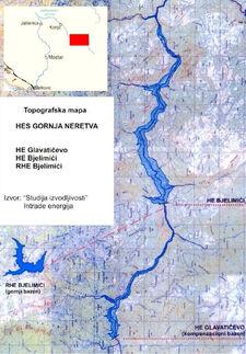 HES Gornja Neretva - Topo M. sve brane i jezera iz Nas pogled Zeleni-N