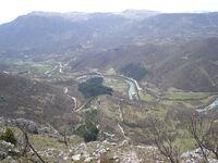 Kom - pogled s Koma na Zupu prema Glavaticevu (kom2)