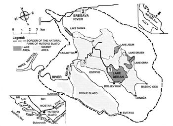 PP Hutovo Blato - Mapa