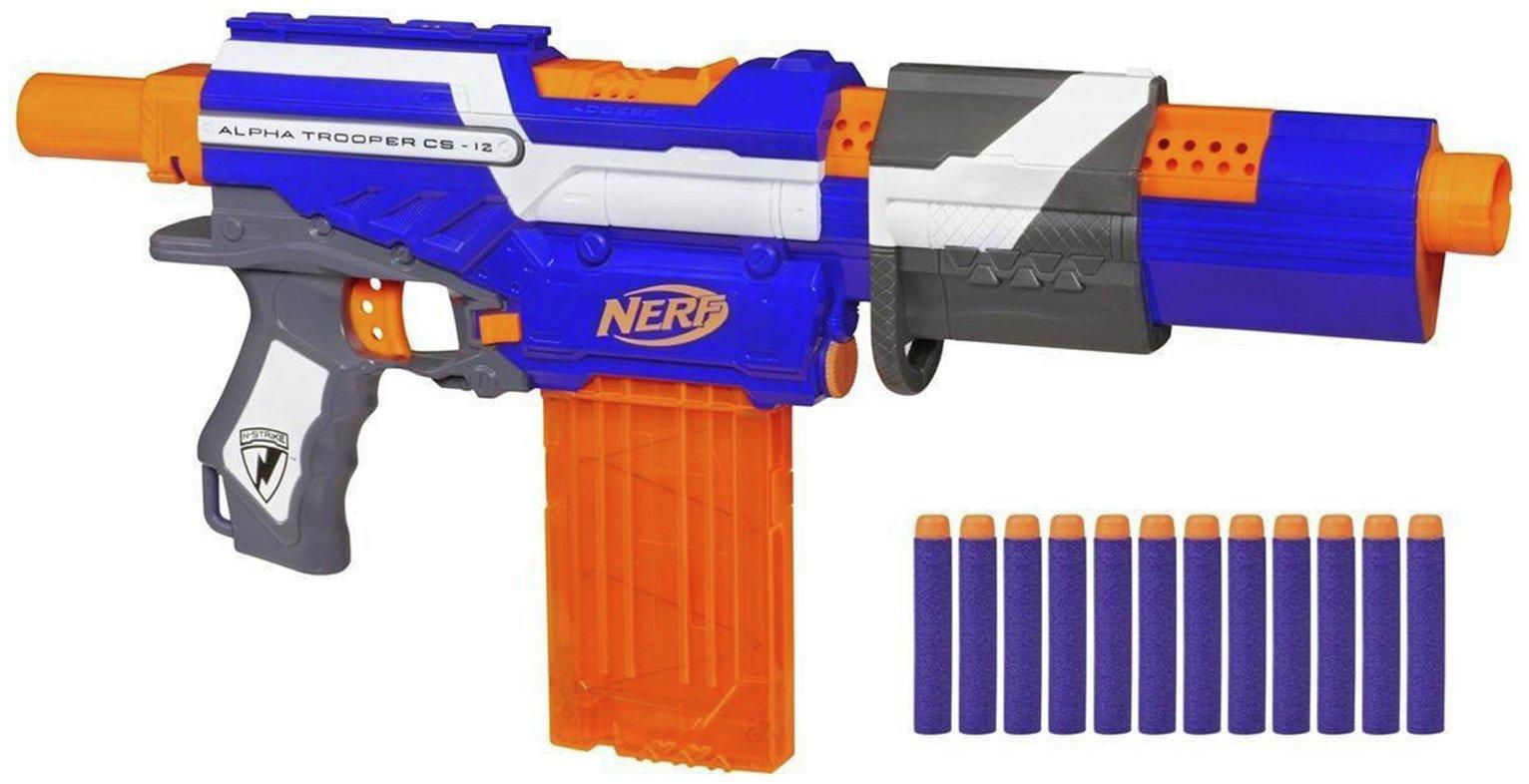 Image is loading NERF-DEPLOY-cs-6-toy-RIFLE-gun-blaster-