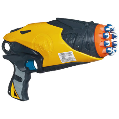 Image is loading Nerf-Dart-Tag-HYPERFIRE-Gun-Blaster-Blue-Shooter-