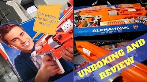 Nerf Accustrike Alphahawk Unboxing And Review justajolt's Chrono and Comparison with Rev-5