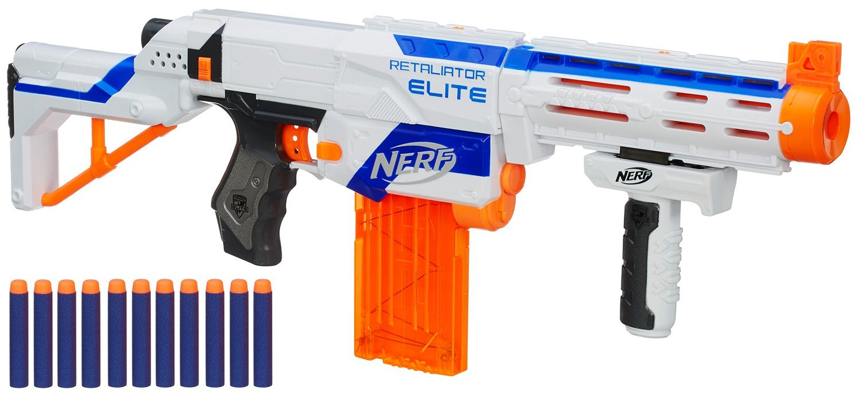 Nerf Retaliator Grip White//black