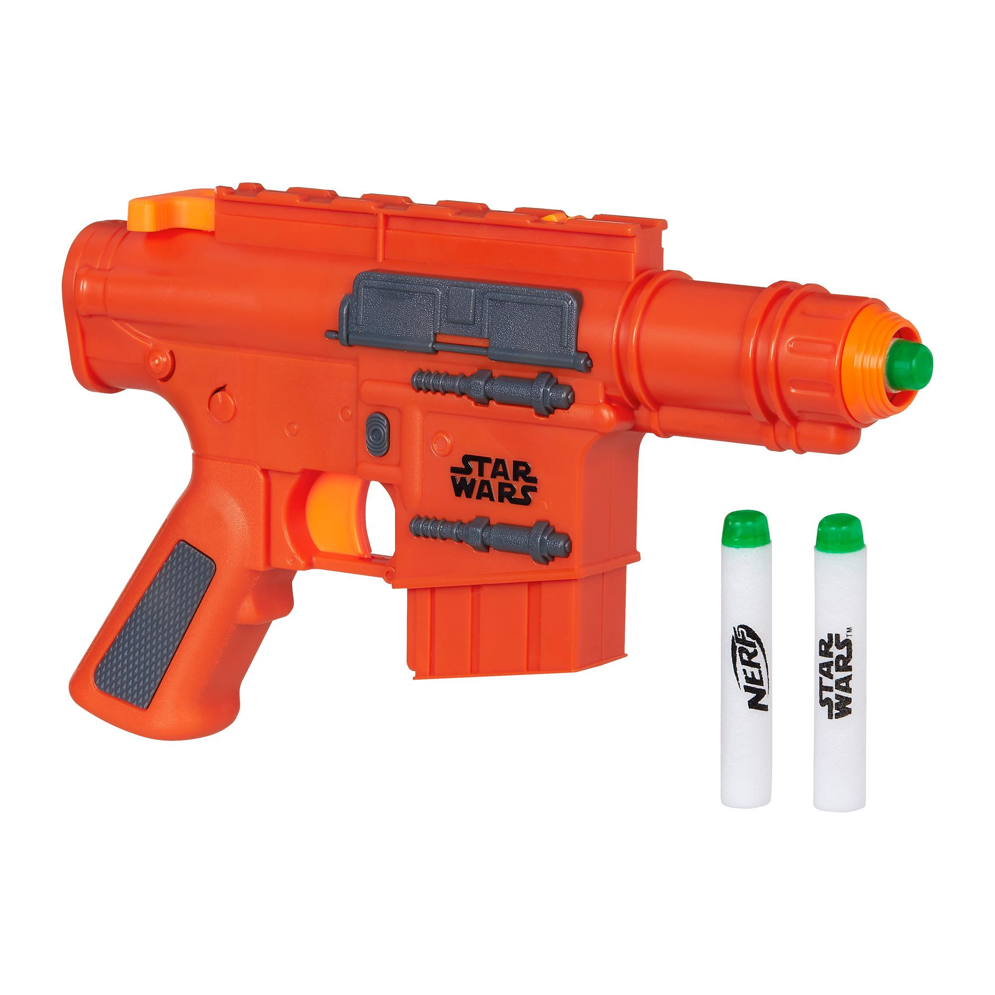 In case you've never seen a Nerf gun, they are marvels of toy engineering.  Basically, they shoot lightweight darts (think a swimming pool noodle about  the ...