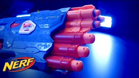 NERF - 'N-Strike Elite Dual-Strike Blaster' Behind the Blaster