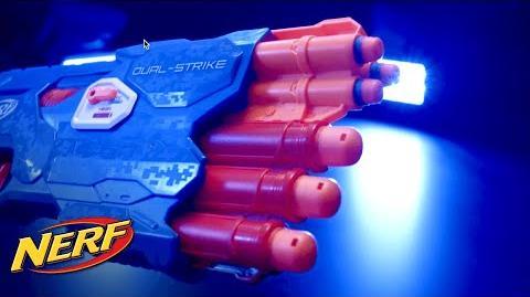 NERF - 'N-Strike Elite Dual-Strike Blaster' Behind the Blaster
