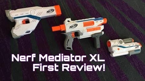 First Review Nerf Modulus Mediator XL (Best Modulus Gun Ever?)