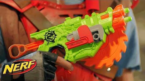 NERF - 'Zombie Strike Crosscut Blaster' Official T.V