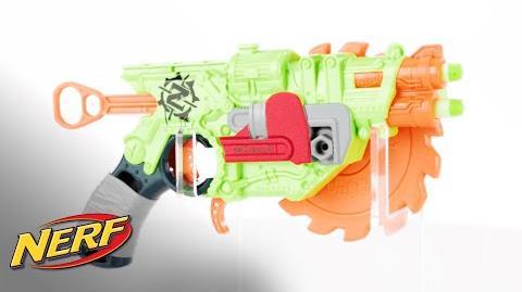 NERF U.K. - 'Zombie Strike Crosscut Blaster' Official Demo