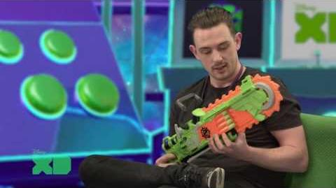 NERF Australia Disney XD Zombie Strike Brainsaw demo