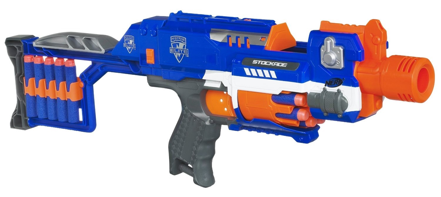 Nerf N-Strike Elite Stockade Motorized Soft Dart Gun Blaster - WORKS GREAT!