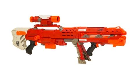 1 of 5 Nerf N-Strike Longstrike CS-6 Dart Gun Sniper Rifle 4 Ammo Clip &