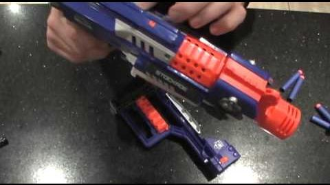 Nerf N-Strike Elite Stockade unboxing, review and Barricade comparrison