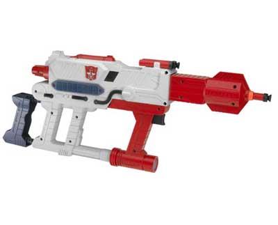 Transformers Nerf Optimus Prime Barricade RV-10 Blaster Gun SDCC ...